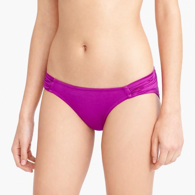 Jersey Lomellina® ruched bikini bottom