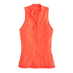 Neon sleeveless rash guard