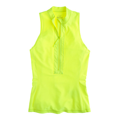 Neon sleeveless rash guard