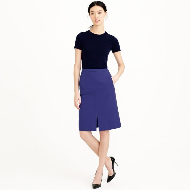A-line skirt in bi-stretch cotton