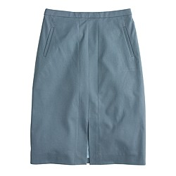 A-line skirt in bi-stretch cotton
