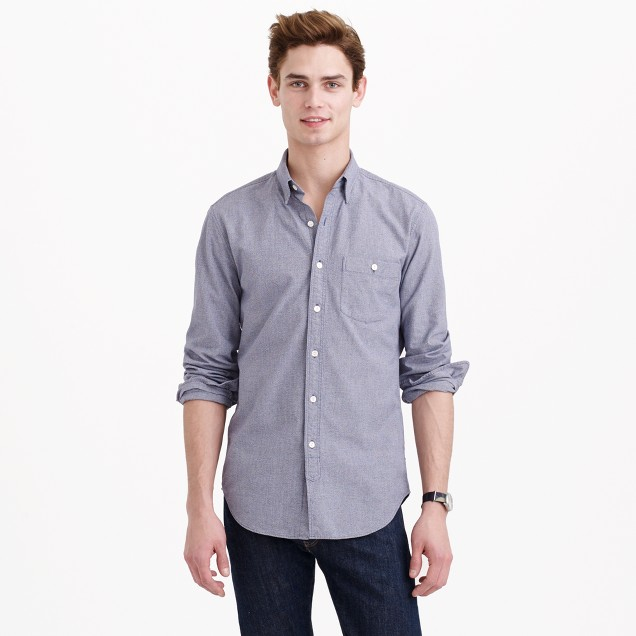 Tall jaspé cotton shirt