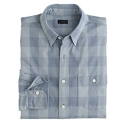 Jaspé cotton shirt in large gingham