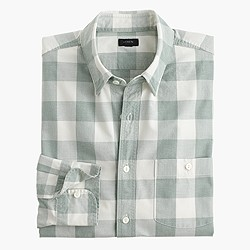 Jaspé cotton shirt in large gingham