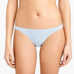 Seersucker hipster bikini bottom