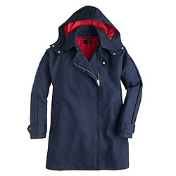 Petite swing trench coat