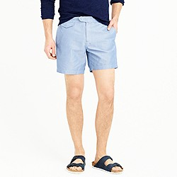 "6.5"" tab swim short in chambray"