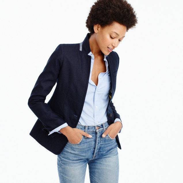 Tall Regent blazer in linen