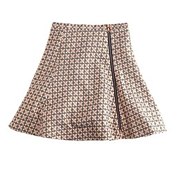 Collection flared jacquard mini skirt