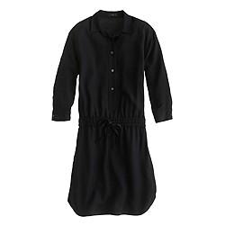 Petite drapey oxford crepe shirtdress