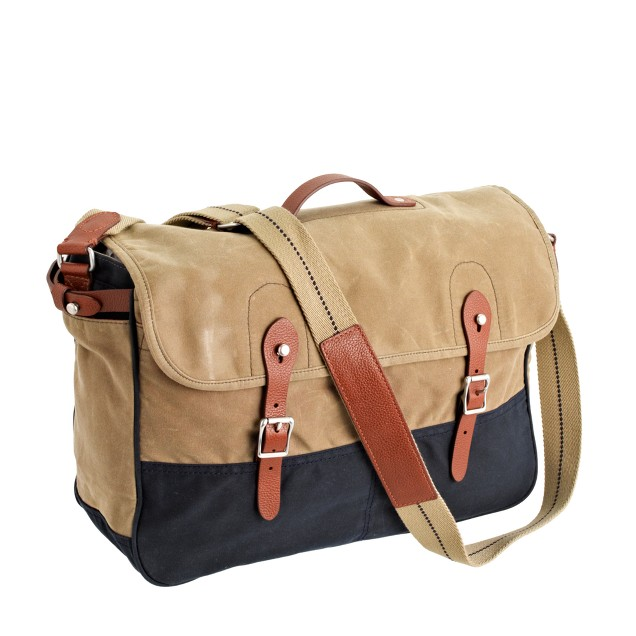 Abingdon messenger bag in two-tone