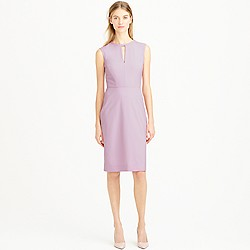 Tall keyhole dress in Italian stretch wool