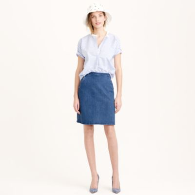 high waisted denim mini skirt j crew