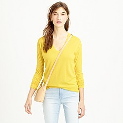 Italian featherweight cashmere V-neck boyfriend sweater
