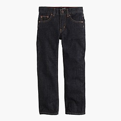 Boys' slim selvedge jean in rinsed wash