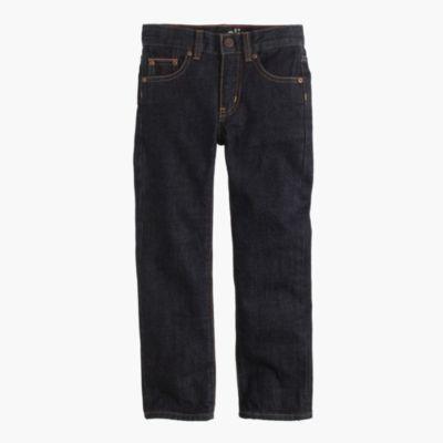 Boys' selvedge rinsed wash jean in slim fit