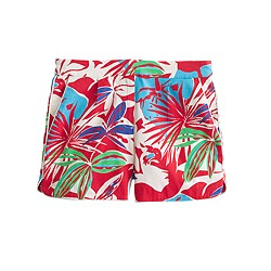 Cotton faille short in paradise floral