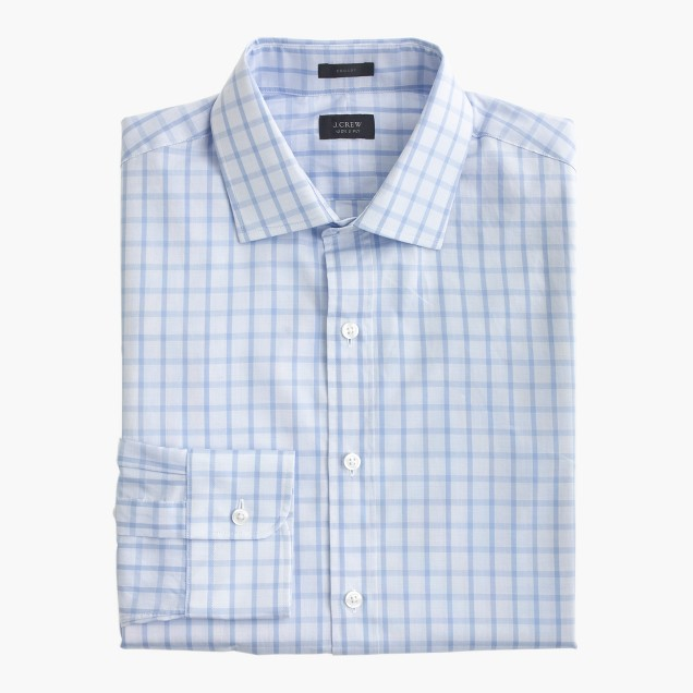 Crosby shirt in fresh pond check men crosby j crew for Dress shirts for athletic build