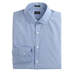 Ludlow spread-collar shirt in basketweave cotton
