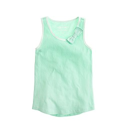 Girls' bow tank top