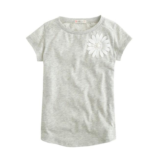 Girls' stone flower T-shirt