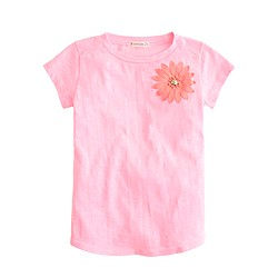 Girls' stone flower T-shirt