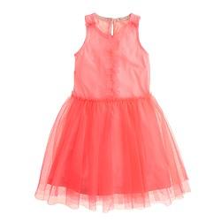 Girls' ruffled tulle dress