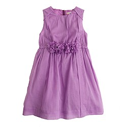 Girls' tulle corsage dress