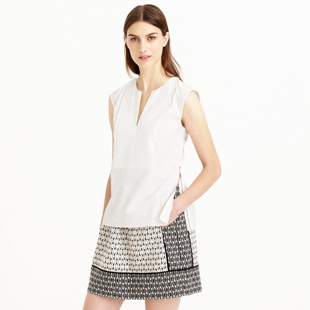 Petite sleeveless side-zip top