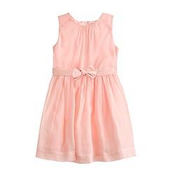 Girls' organdy bow dress