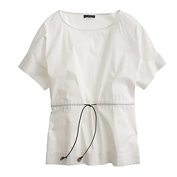 Drawstring top in stretch cotton