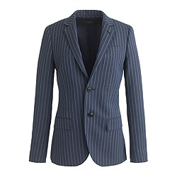 Collection women's Ludlow blazer in pinstripe Italian wool