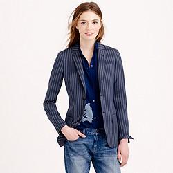 Collection women's Ludlow blazer in pinstripe Italian wool
