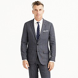 Ludlow Traveler suit jacket in glen plaid Italian wool