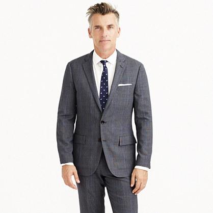 Ludlow Traveler suit jacket in glen plaid Italian wool