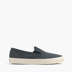 Men's Sperry® for J.Crew CVO slip-on sneakers in railroad stripe