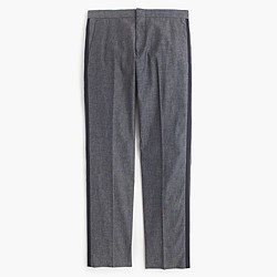 Ludlow tuxedo pant in Japanese chambray