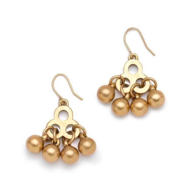 Brass droplet earrings