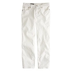 Wide-leg cropped jean in white
