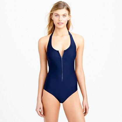 One Zip Zip-front One-piece Swimsuit