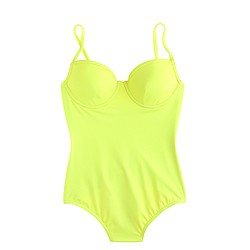 Neon underwire one-piece swimsuit