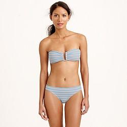 Sailor stripe U-front bandeau bikini top