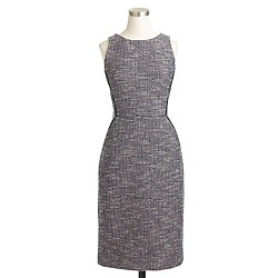 Tipped tweed sleeveless dress