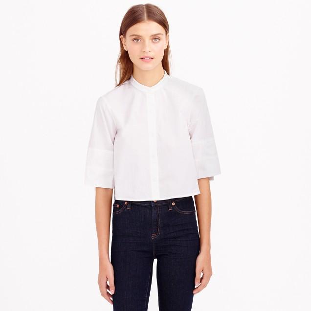 Apiece Apart™ cropped Leandro button-down shirt