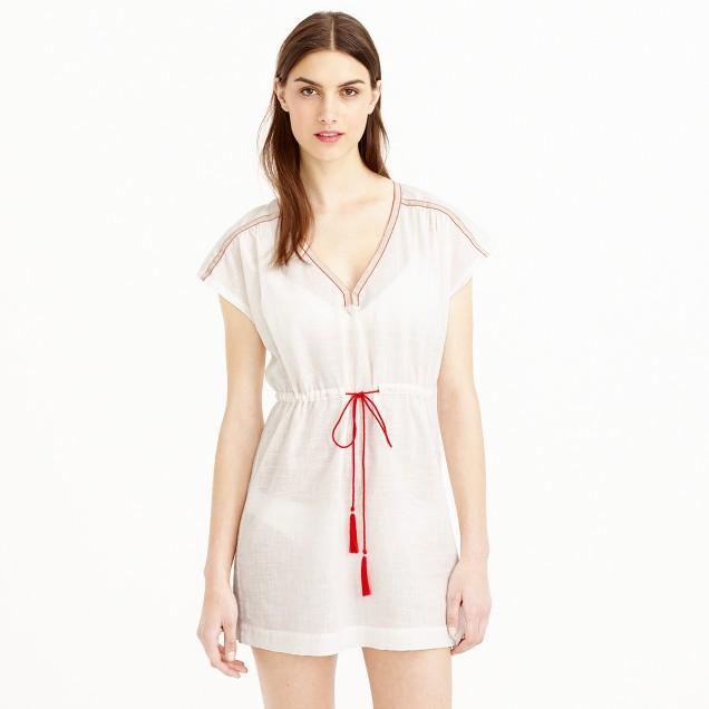 Tassel-tie beach tunic