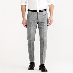 Ludlow suit pant in herringbone Italian linen-silk