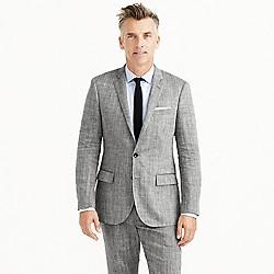 Ludlow suit jacket in herringbone Italian linen-silk