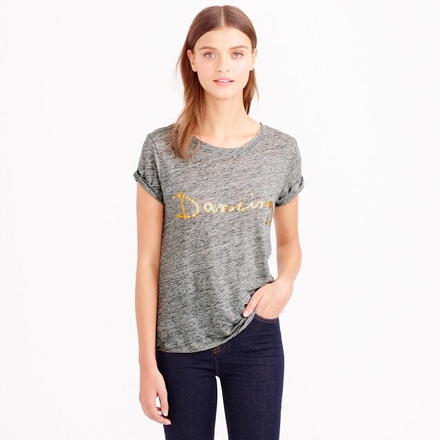 Hugo Guinness™ for J.Crew dancing linen T-shirt