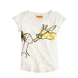 Girls' Donald Robertson™ for crewcuts kisses T-shirt