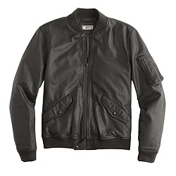 Wallace & Barnes MA-1 leather jacket